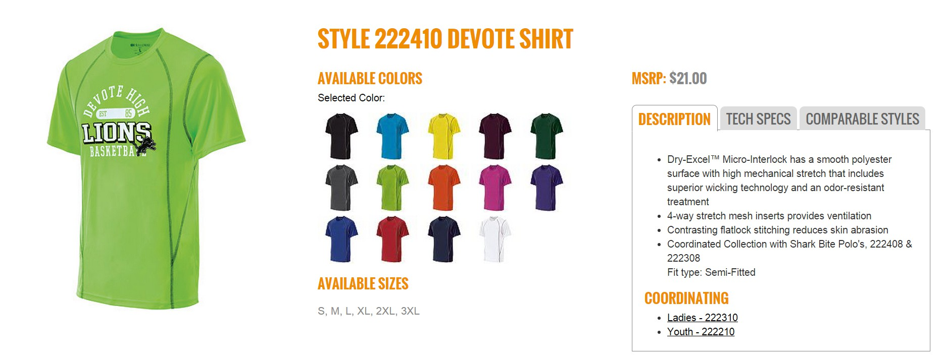 Group Fundraising Store Apparel Fundraising Holloway Devote Shirt 222410