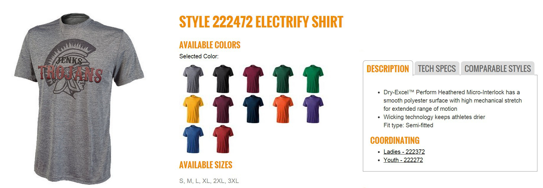 Group Fundraising Store Apparel Fundraising Holloway Electrify Shirt 222472