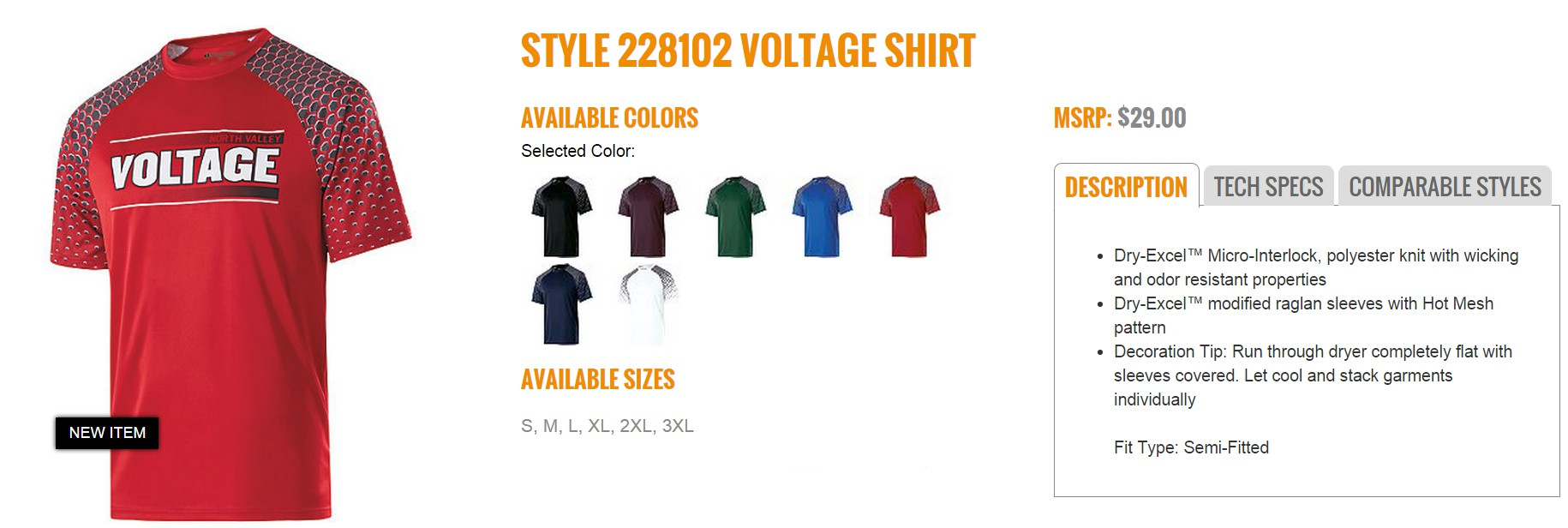 Group Fundraising Store Apparel Fundraising Holloway  Voltage Shirt 228102