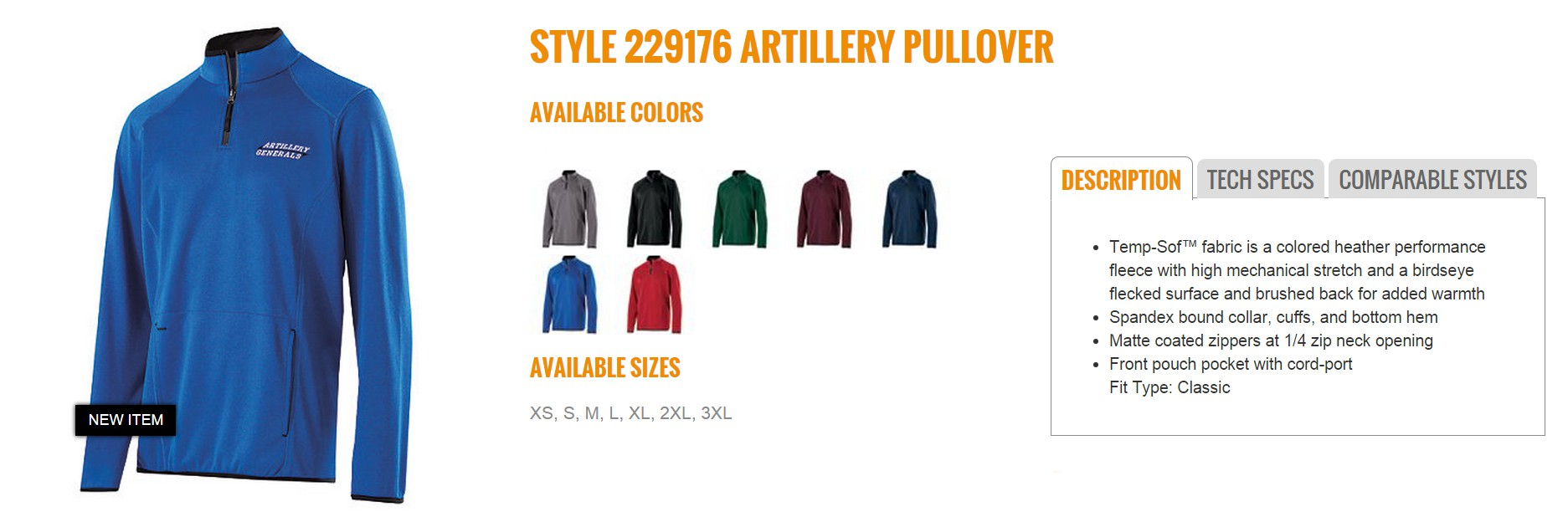 Group Fundraising Store Apparel Fundraising Holloway Artillery Pullover 229176