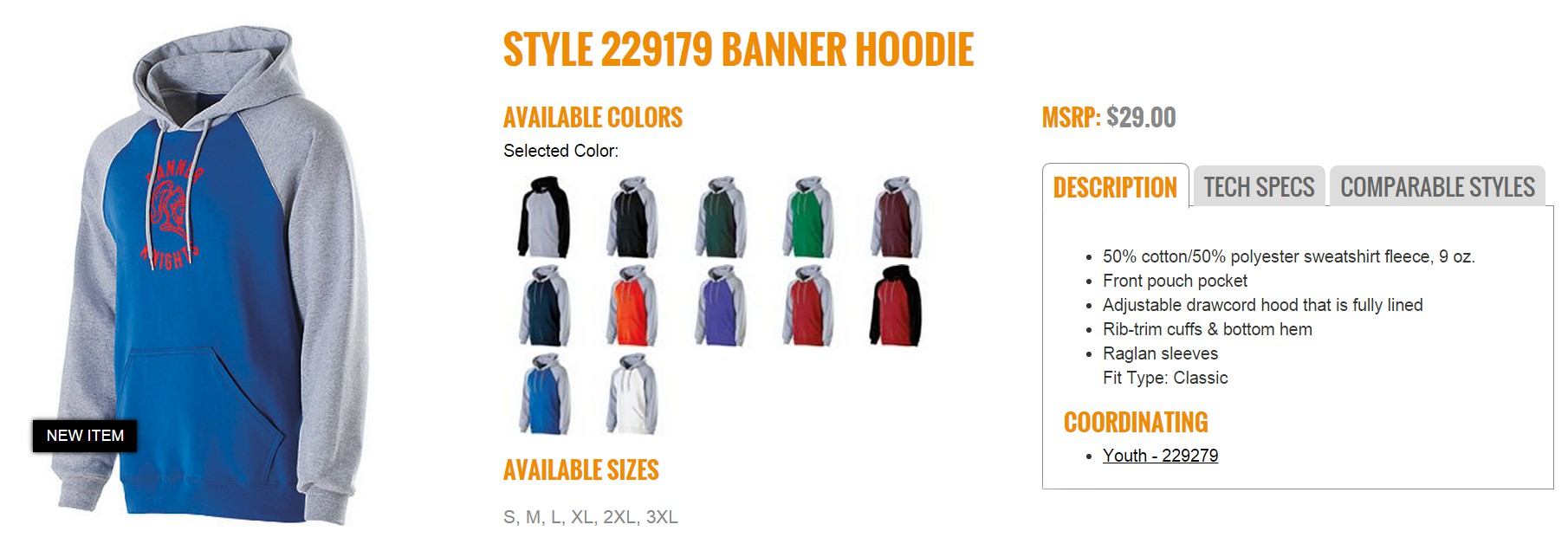 Group Fundraising Store Apparel Fundraising Holloway Banner Hoodie 229179