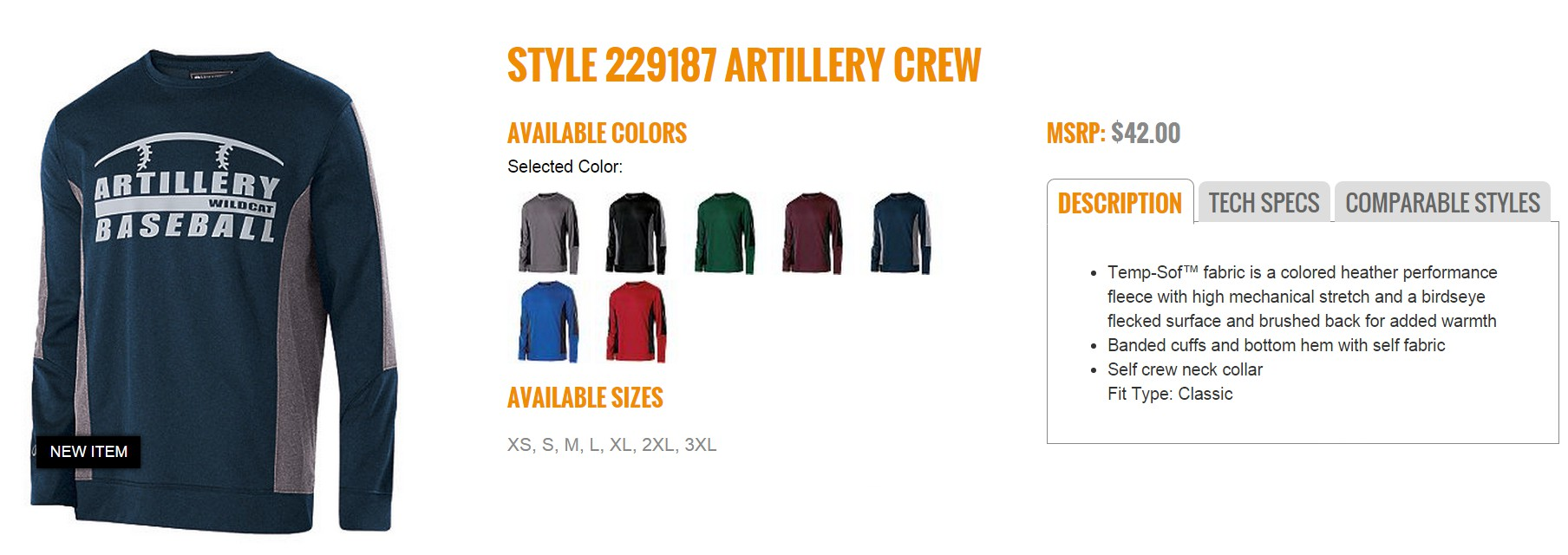 Group Fundraising Store Apparel Fundraising Holloway Artillery Crew 229187