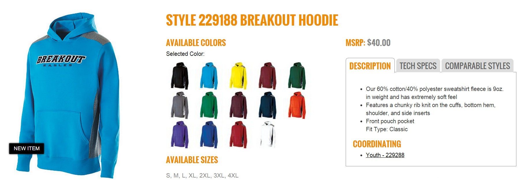 Group Fundraising Store Apparel Fundraising Holloway Breakout Hoodie 229188