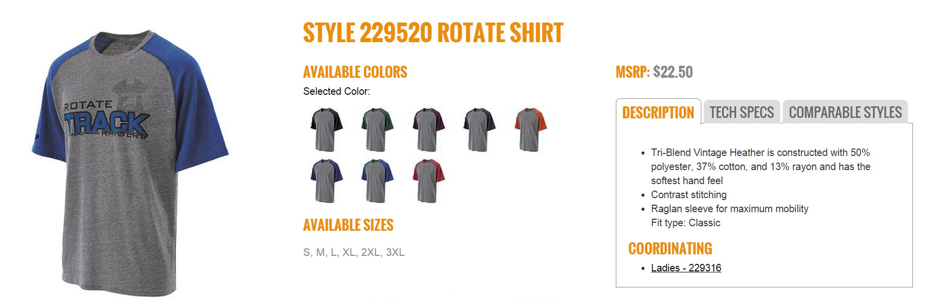 Group Fundraising Store Apparel Fundraising Holloway Rotate Shirt 229520